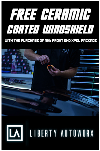 free ceramic coated windshield with the purchase of any xpel package
