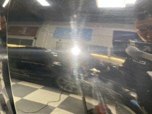 Black Toyota Tacoma scratches and swirls