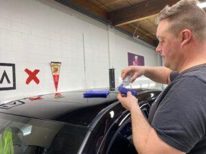Toyota Tacoma ceramic coating application